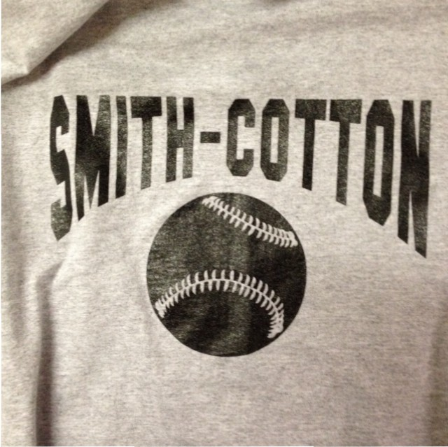 smith cotton baseball screen printing