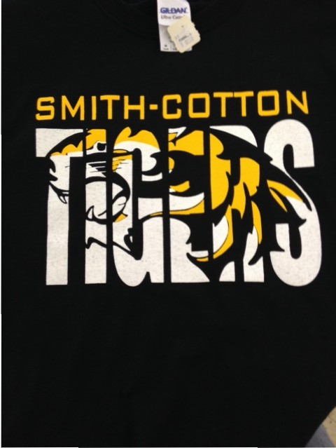 smith cotton tigers screen printing
